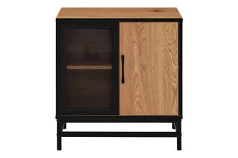 Shangri-La Darlington 2 Door Buffet (Light Mocha/Black)