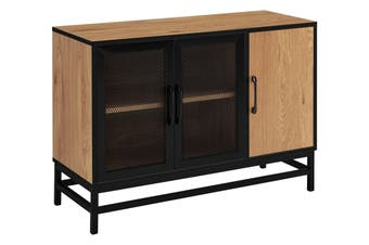 Shangri-La Darlington 3 Door Buffet (Light Mocha/Black)