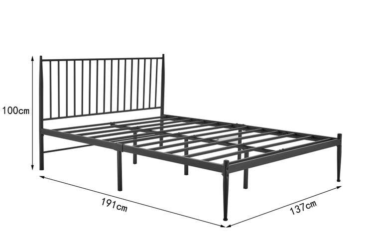 Shangri-La Dallas Bed (Double, Black)