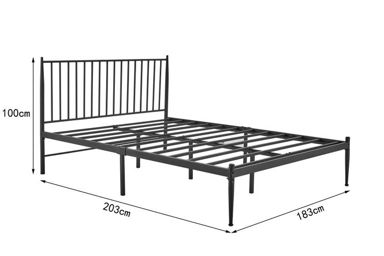 Shangri-La Dallas Bed (King, Black)