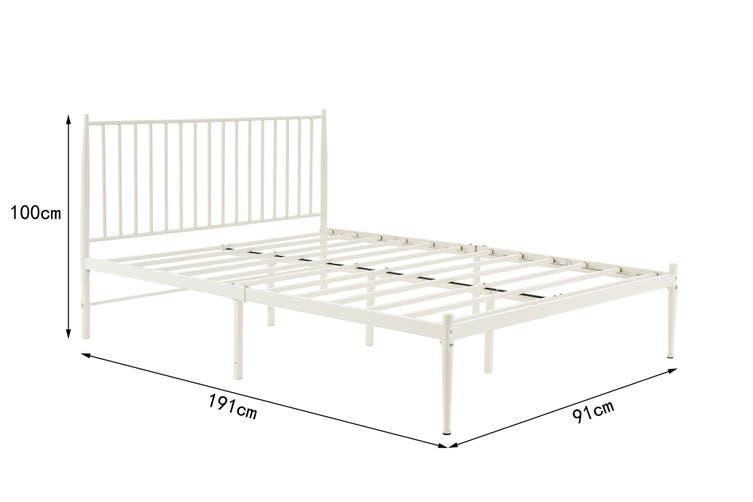 Shangri-La Dallas Bed (Single, White)