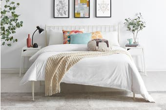 Shangri-La Dallas Bed (King, White)