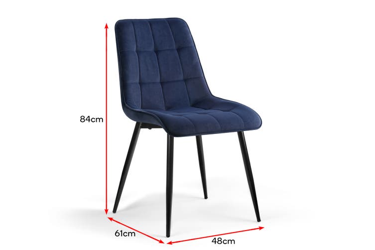 Shangri-La Set of 2 Dover Dining Chair (Navy)