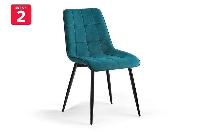 Shangri-La Set of 2 Dover Dining Chair (Teal)