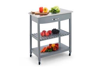 Shangri-La Evandale Stainless Steel Kitchen Trolley (Grey)