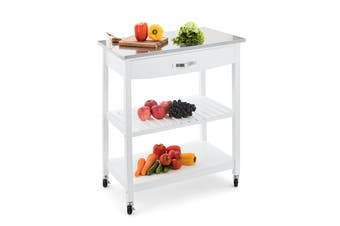 Shangri-La Evandale Stainless Steel Kitchen Trolley (White)