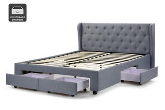 Shangri-La Marseille Storage Bed (Queen, Light Grey)
