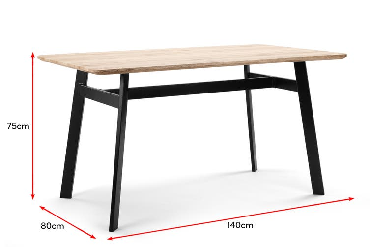 Shangri-La Harlow 6 Seater Dining Table (Ash)