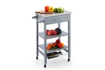 Shangri-La Kingston Stainless Steel Kitchen Trolley (Grey)