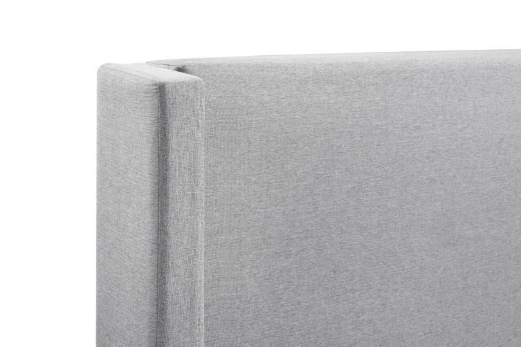 Shangri-La Phoebe Bed Frame (Light Grey, Double)