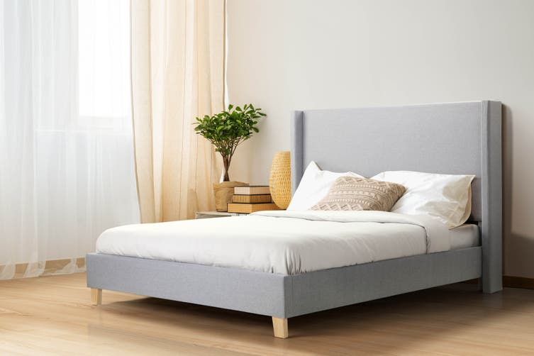 Shangri-La Phoebe Bed Frame (Light Grey, Double)
