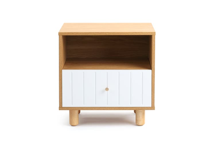 Shangri-La Bedside Table - Lyon Collection (White)
