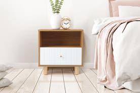 Shangri-La Bedside Table - Lyon Collection (White)