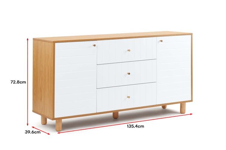 Shangri-La TV Buffet/Sideboard - Lyon Collection (White)
