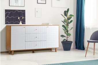 Shangri-La TV Buffet/Sideboard - Lyon Collection (White)