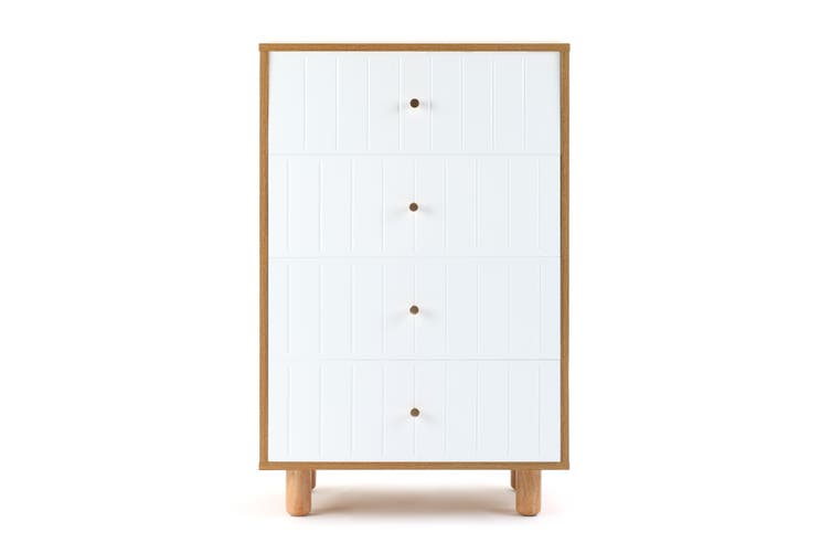 Shangri-La Chest of 4 Drawers - Lyon Collection (White)