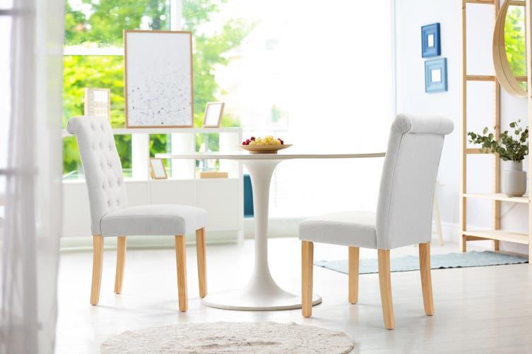 Shangri-La Set of 2 Marseille Dining Chairs (Beige)