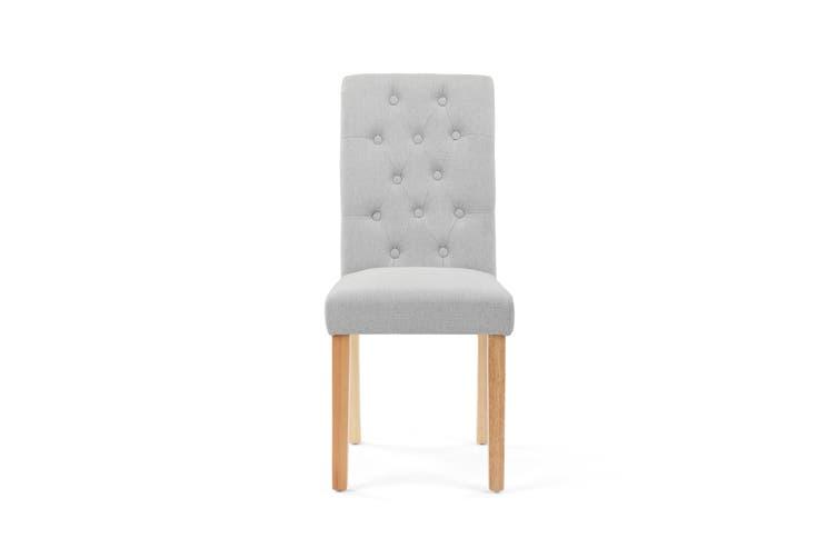 Shangri-La Set of 2 Marseille Dining Chairs (Grey)
