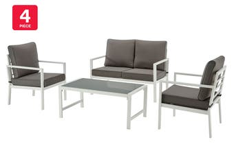Shangri-La Nelson 4 Piece Outdoor Furniture Lounge Set