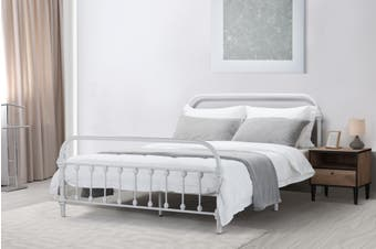 Shangri-La New York Metal Bed (Double, White)