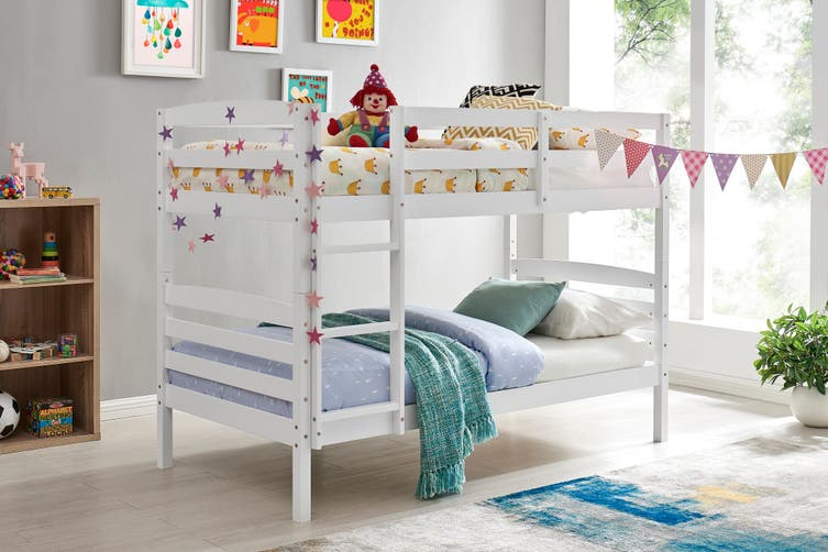 Dick Smith Shangri La Oakland Bunk Bed White Home Garden Children S Home Furniture Furniture Beds Bedframes