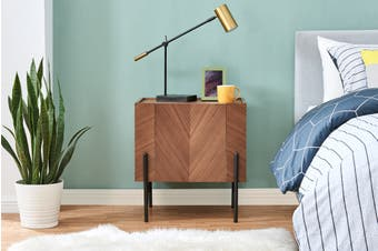 Shangri-La Rio Bedside Table (Walnut)