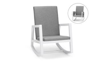 Shangri-La Hale Rocking Chair (Grey/White)