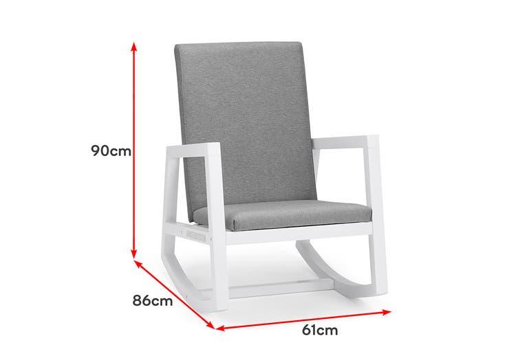 Shangri-La Hale Rocking Chair (Grey/White)