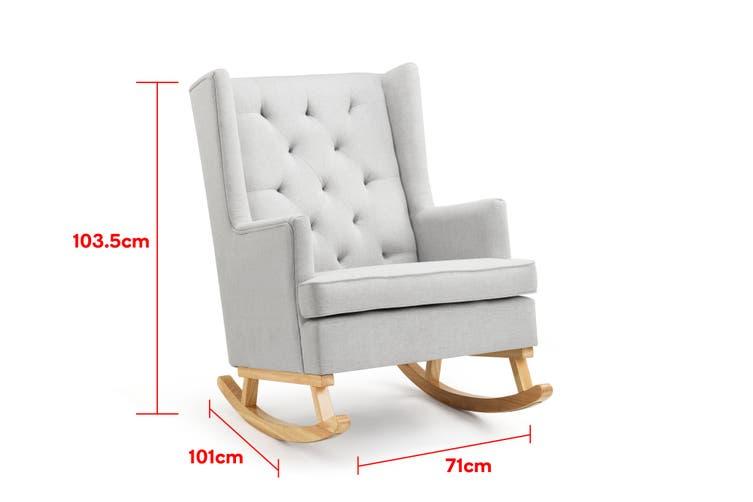 Shangri-La Charlotte Rocking Chair (Grey)