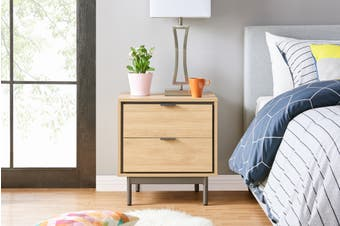Shangri-La Santos Bedside Table (Oak)