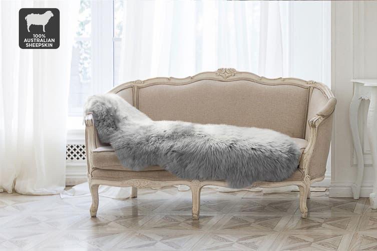 Shangri-La 100% Australian Sheepskin Rug (Grey) (170cmx60cm)