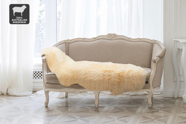 Shangri-La 100% Australian Sheepskin Rug (Honey) (170cmx60cm)