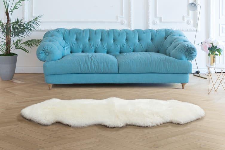 Shangri-La 100% Australian Sheepskin Rug (White) (170cmx60cm)