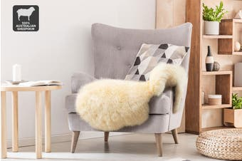Shangri-La 100% Australian Sheepskin Rug (Honey) (90x50cm)