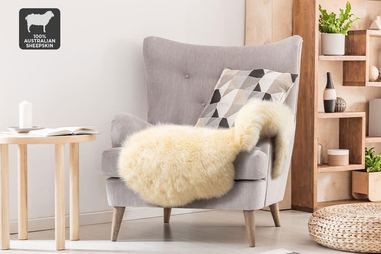 Shangri-La 100% Australian Sheepskin Rug (Honey) (90x50cm)