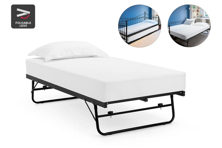 Shangri-La Seattle Pull out Trundle Bed (Single, Black)