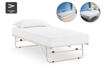 Shangri-La Seattle Pull out Trundle Bed (Single, White)
