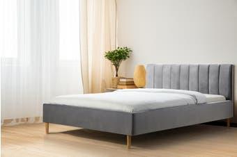 Shangri-La Talia Velvet Bed (Charcoal)