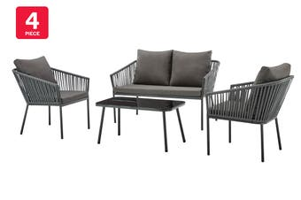 Shangri-La Wellington Rope Detailed 4 Piece Outdoor Furniture Lounge Set