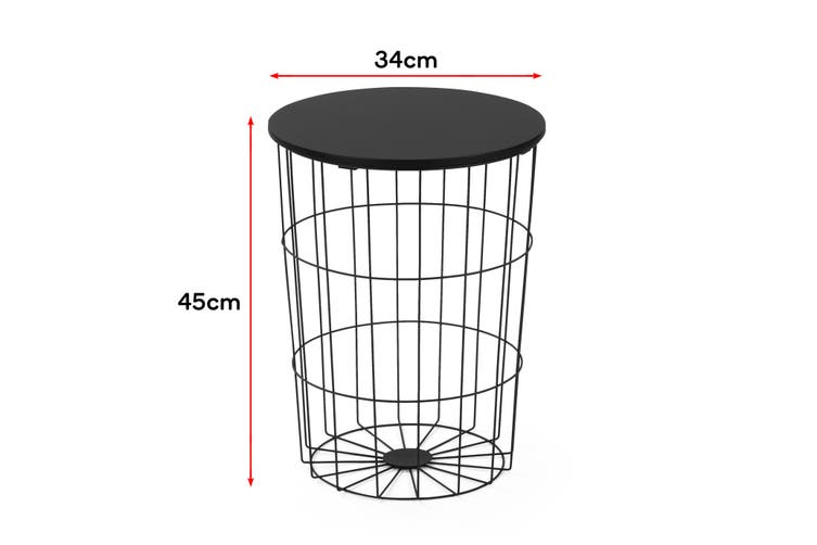 Shangri-La Wire Nest Side Table (Black)