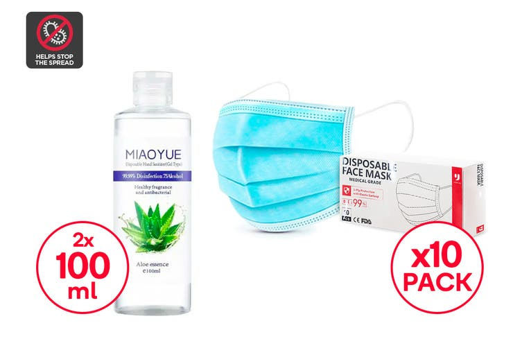 Mask & Hand Sanitiser Personal Safety Pack (Small)