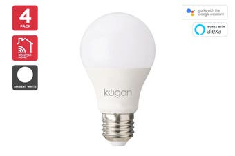 Kogan SmarterHome™ 10W Cool & Warm White Smart Bulb (E27) - 4 Pack