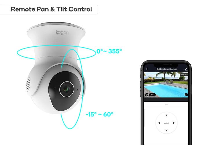 Kogan SmarterHome™ Outdoor IP65 Full HD Pan and Tilt Smart Camera