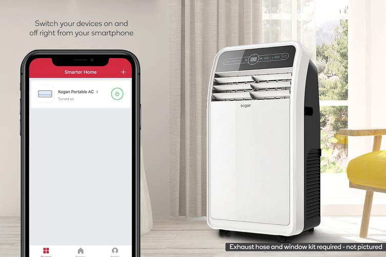 Kogan SmarterHome™ 4.1kW Portable Smart Heater & Air Conditioner (14,000 BTU, Reverse Cycle)