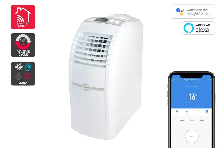 Kogan SmarterHome™ 5.2kW Portable Smart Heater & Air Conditioner (18,000 BTU, Reverse Cycle)