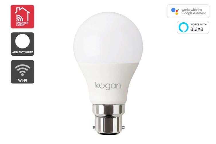 Kogan SmarterHome™ 10W Cool & Warm White Smart Bulb (B22)