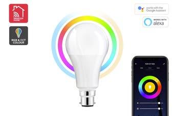 Kogan SmarterHome™10W RGB + CCT Colour & Warm/Cool White Smart Bulb (B22)