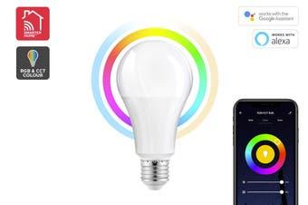 Kogan SmarterHome™10W RGB + CCT Colour & Warm/Cool White Smart Bulb (E27)
