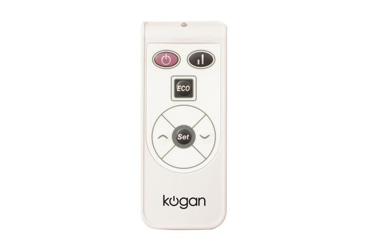 Kogan SmarterHome™ 2400W Smart Glass Panel Heater (White)