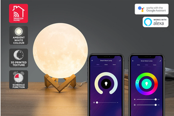 Kogan SmarterHome™ RGB + Cool & Warm White Smart Moon Lamp